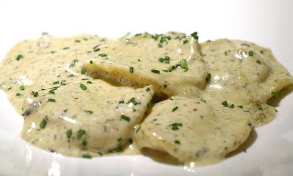 salsa con trufas para pastas rellenas