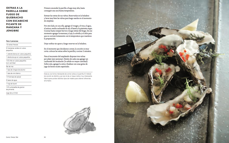 Ostras a la parrilla sobre fuego de quebracho con for Cocinar ostras